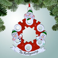 image of Hugs and Kisses Family - 3 ornament