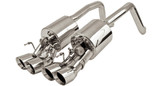 "B&B - Fusion 2.5"" Exhaust w. Quad 4"" Round or 4.5"" Oval Tips - C6 Corvette"