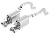 Borla - Touring Axleback Exhaust NEW DESIGN - C6 Corvette