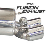 "B&B - Fusion Gen 3 Exhaust w. Quad 4"" Round or 4.5"" Oval Tips - C6 Corvette Z06/ZR1"