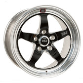 "Weld Wheels - 17""x10.5"" RT-S S71 Forged Aluminum Black Rear Wheel - 09-15 CTS-V Coupe"