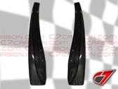 C7 Carbon ZR1 style Carbon Fiber Rear Mudflaps FOR BASE C6 - MUDFLAPS