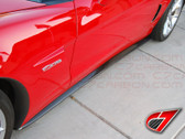 C7 Carbon 2005-2013 Chevrolet Corvette side skirts for Z06/ZR1/GS - Carbon Fiber