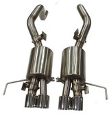 B&B - Fusion Bi-Modal Axleback Exhaust w. Quad Round Tips - C7 Corvette Stingray LT1