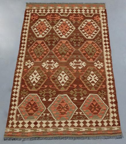 Veggie Dye Afghan Kilim (Ref 1723) 215x112cm