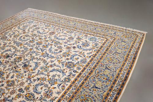 Pistachio Kashan Persian Rug (Ref 64) 385x290cm