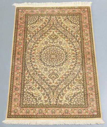 Pure Silk Qum Persian Rug (Ref 319) 157x97cm