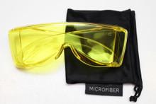 Yellow premium wraparound viewing glasss