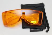 Orange premium wraparound viewing glasss