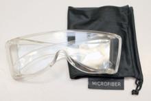 Clear premium wraparound viewing glasss 400nm cutoff