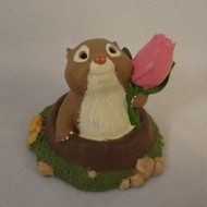 1995 Groundhog With Tulip