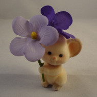 1985 Mouse With Purple Flowers
