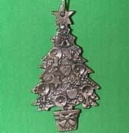 1990 O Christmas Tree - Pewter