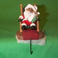 1992 Santa And Baby - Tt - Stocking Hanger