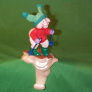 1988 Bunny On Skis - Stocking Hanger