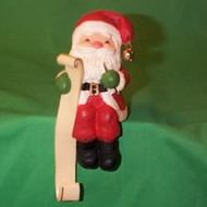 1984 Santa With List - Stocking Hanger