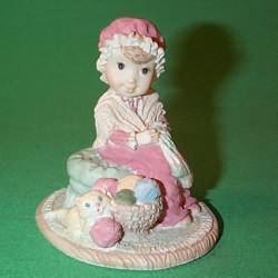 1990 Girl Knitting Stocking