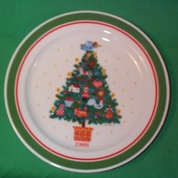 1988 Country Christmas Plate 1
