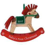 2017 Baby's 1st Christmas - Rocking Horse Hallmark ornament - QGO1235