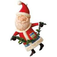 2017 Boughs of Holly Santa Hallmark ornament - QGO1725