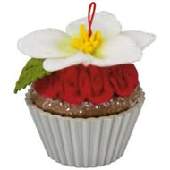 2017 Christmas Cupcakes #8 - Candied Christmas Rose Hallmark ornament - QX9422
