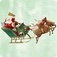 2003 Santa's On His Way Hallmark ornament