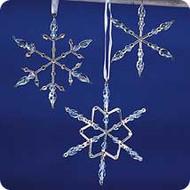 2001 Frostlight - Beaded Snowflakes - Blue Hallmark ornament