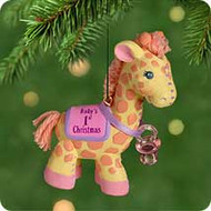 2001 Baby's 1st Christmas - Girl Hallmark ornament
