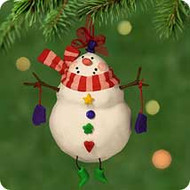 2001 Happy Snowman Hallmark ornament