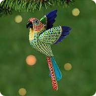 2001 Christmas Parrot Hallmark ornament