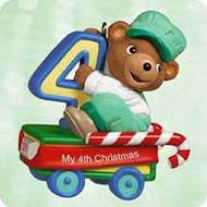 2003 Child's 4th Christmas Bear Hallmark ornament