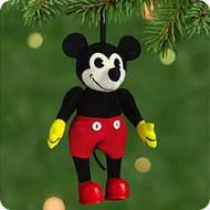 2001 Disney - Fabric Mickey Hallmark ornament