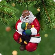 2001 Joyful Santa #3F Hallmark ornament