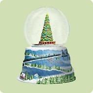 2004 Polar Express - Snow Globe And Train Hallmark ornament