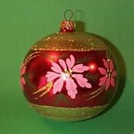 1998 Glass - Poinsettia - Pink