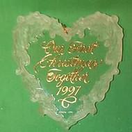 1997 1st Christmas Together - Acrylic