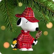 2000 Spotlight On Snoopy #3 - The Detective Hallmark Ornament