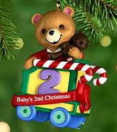 2000 Baby's 2nd Christmas- Bear Hallmark Ornament