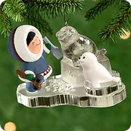 2000 Frosty Friends #21 - Ice Sculpture Hallmark Ornament