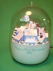 1990 Babys 1st Christmas - Lighted