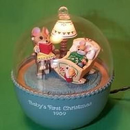 1989 Babys 1st Christmas - Lighted