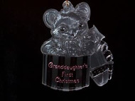1990 Grandaughter 1st Christmas - Acrylic