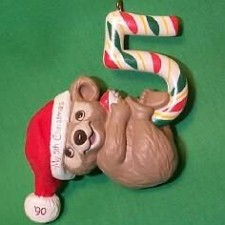 1990 Childs 5th Christmas - Bear