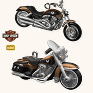 2008 Harley Davidson - Mini - Set of 2
