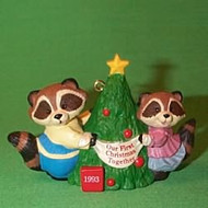 1993 1st Christmas Together - Raccoons