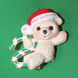 1993 Babys 2nd Christmas - Bear