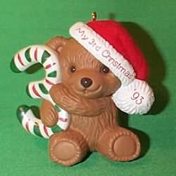 1993 Childs 3rd Christmas - Bear