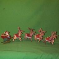 1992 Santa And Reindeer - Complete Set