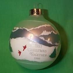 1986 1st Christmas Together - Ball