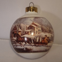 1987 Currier And Ives - Farm Scene (QX2829)